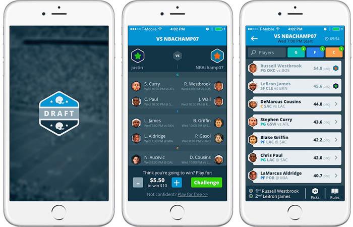Мобильное приложение Draft отличает простота, как в игровом процессе, так и в интерфейсе. Поиск противника в фэнтези спорте не займет много времени.