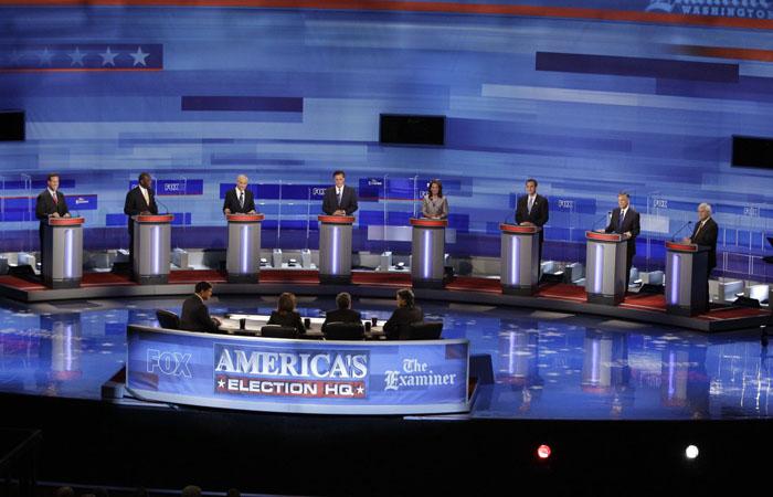 В среду прошли республиканские президентские дебаты, на которых своей точкой зрения поделились губернатор Нью-Джерси Крис Кристи (Chris Christie) и губернатор Флориды Джеб Буш (Jeb Bush).